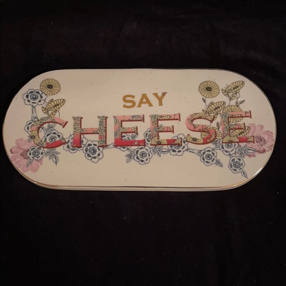 """l """"Say Cheese"""" Plate from Anthropologie."""